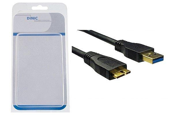 Dinic USB 3.0 auf Micro Stecker Kabel 2m, schwarz
