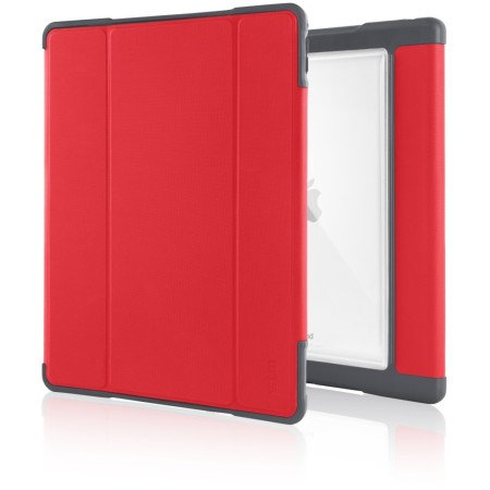 "STM Dux Plus Case für Apple 12,9"" iPad Pro (2017), Rot/Transparent"