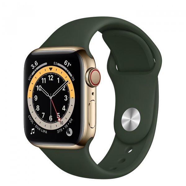 Apple Watch Series 6 Edelstahl Gold