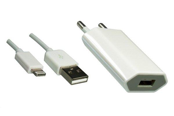 DINIC Kit für iPhone 5/6 / iPad mini, USB Kabel auf Lightning + Ladeadapter